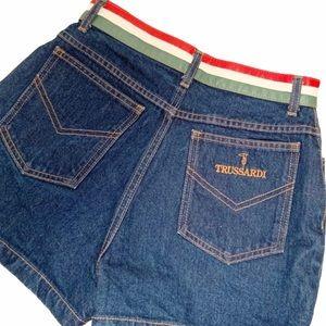 Vintage Trussardi High Waisted Denim Shorts 27
